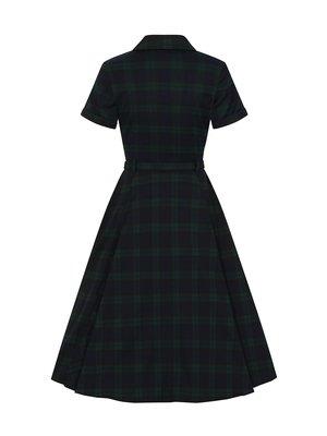 Collectif Caterina Blackwatch Check Swing Dress