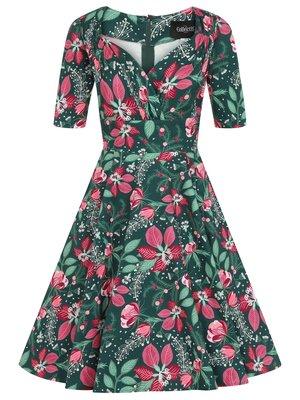 Collectif Trixie Escapist Floral Swing Dress