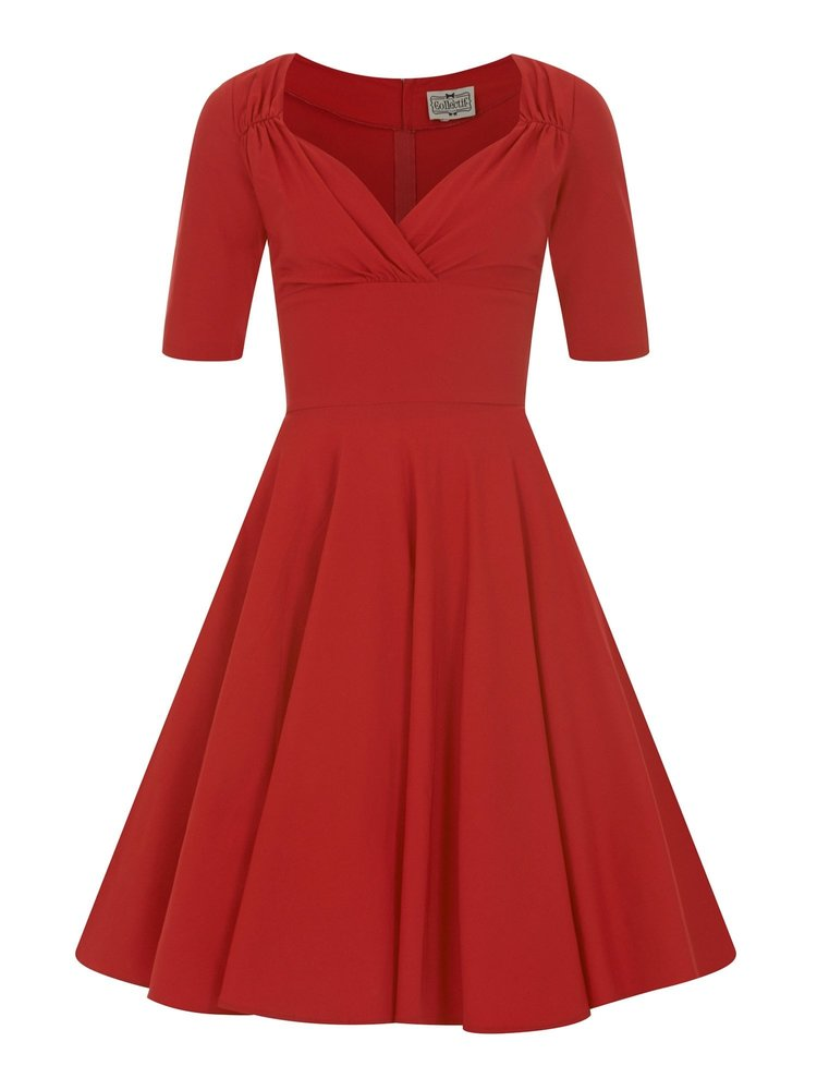 Collectif Trixie Doll Dress Red