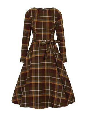 Collectif Arwen Mosshill Check Swing Dress