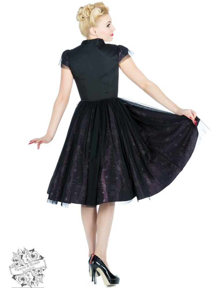 Hearts & Roses Black and Taupe fairytale