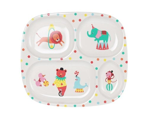 A Day at The Circus Melamine Compartment Plate