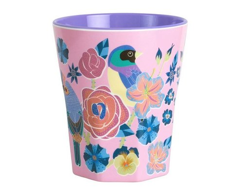 Singing with the Birds Large Melamine Cup - Pink