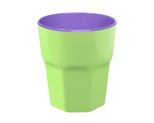 Pastel Colours Two Tone Large Melamine Cup - Green