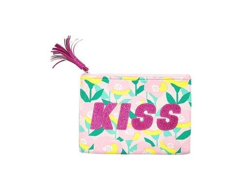 Happy Summer Poppy in Pink Zip Pouch KISS