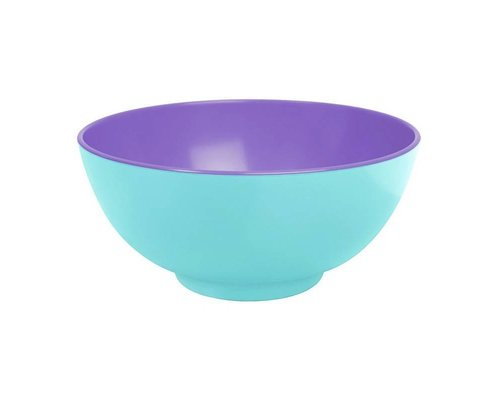 Pastel Colours Two Tone Large Melamine Bowl - Blue