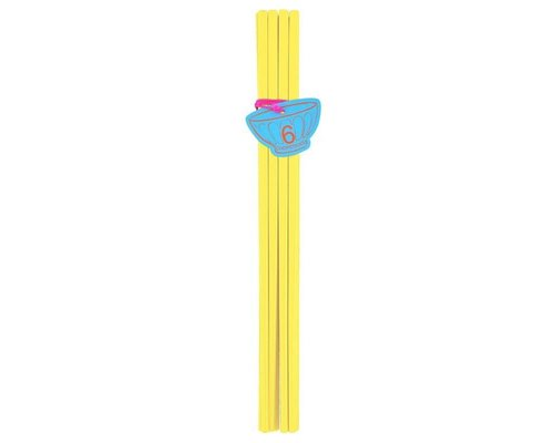 Pastel Colours 6 pairs Melamine Chopsticks - Yellow