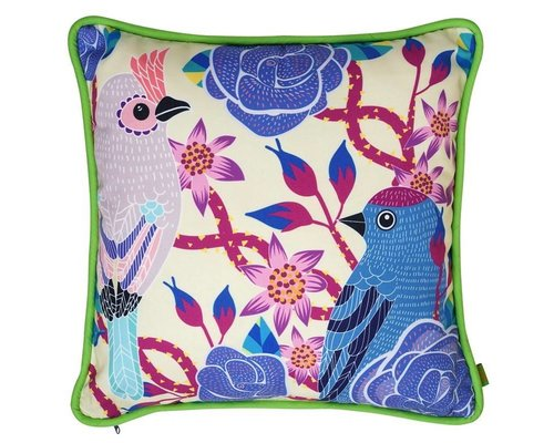 Singing with the Birds Cushion - Cream
