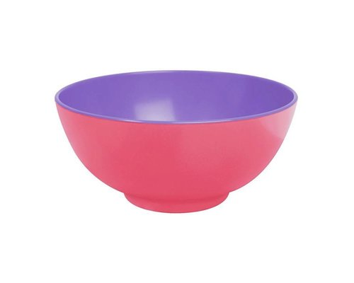 Pastel Colours Two Tone Large Melamine Bowl - Coral