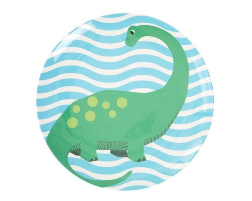 Happy Dinosaurs Kids Melamine Lunch Plate  - Blue