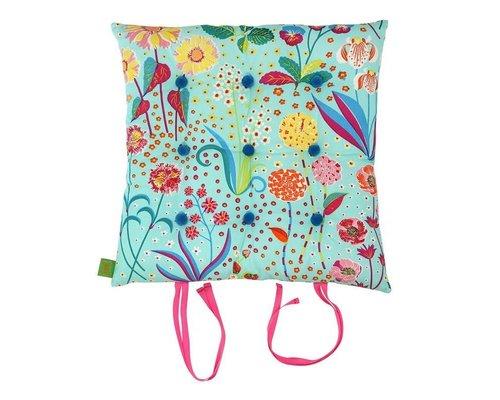 Oriental Blossom Chair Cushion