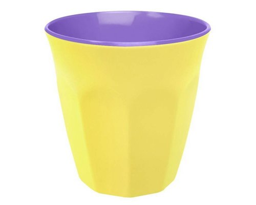 Pastel Colours Two Tone Medium Melamine Cup - Yellow