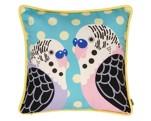 Singing with the Birds Cushion - Mint
