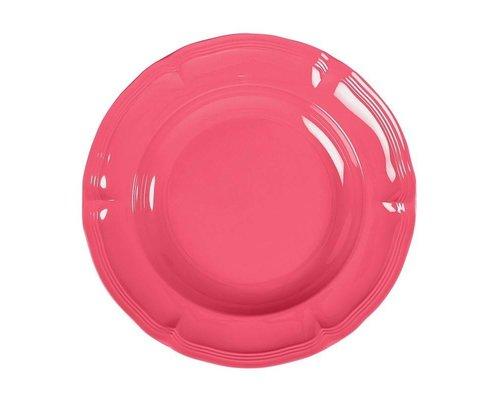 Pastel Colours Vintage Melamine Soup Plate - Coral