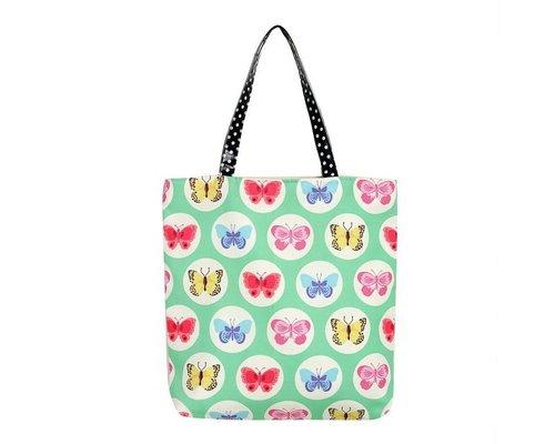 Happy Butterflies Tote Bag - Green