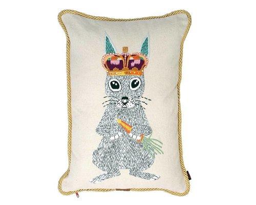 Ginger in Wonderland Cushion Gold Robe Piping - Prince