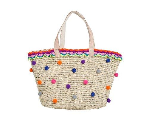 Raffia Bag Pom Pom