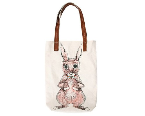 Ginger in Wonderland Tote Bag Hare