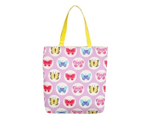 Happy Butterflies Tote Bag - Pink