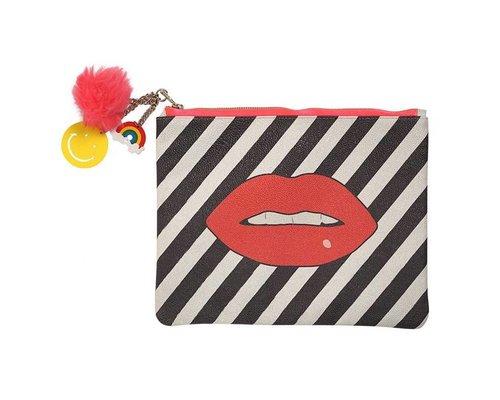 Pop Art Large Zip Pouch KISS