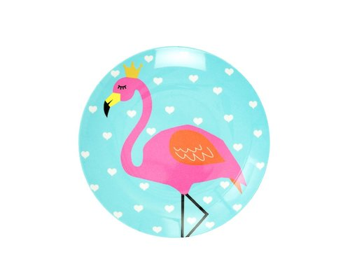 So Pretty Kids Melamine Mini Plate - Flamingo