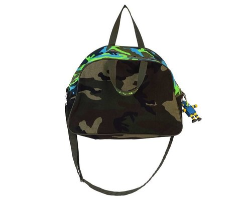 Funky Army Green Kids Travel Bag