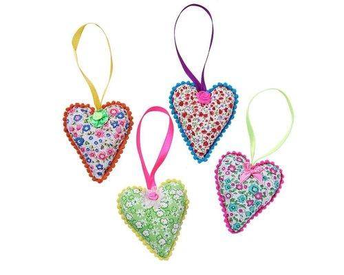 Pretty Hearts, set of 4