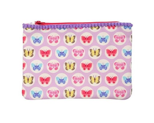 Happy Butterflies Zip Pouch - Pink