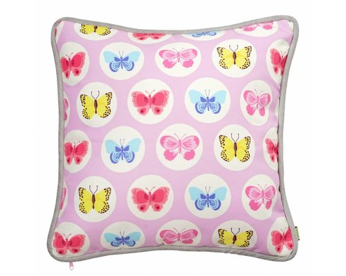 Happy Butterflies Cushion - Pink