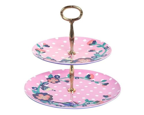 Singing with the Birds Two Tier Melamine Cake Stand