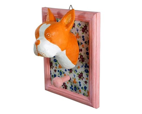 Frame Wall Hanging Bull Dog - Orange