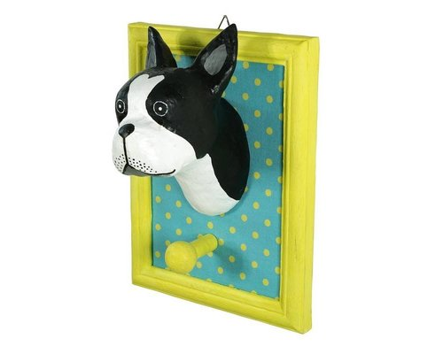Frame Wall Hanging Bull Dog - Black