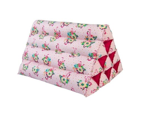Pink Flamingos Small Triangle Cushion