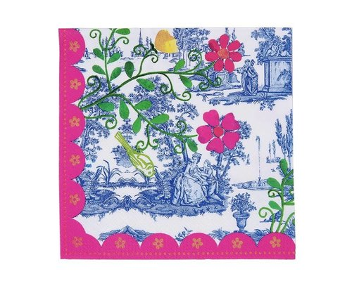 My Secret Garden Toile Paper Napkins