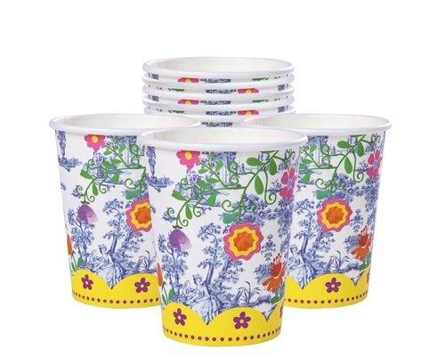 My Secret Garden Toile Paper Cups