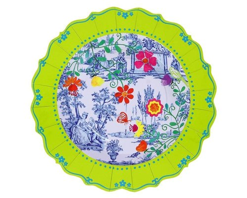 My Secret Garden Toile Paper Plates