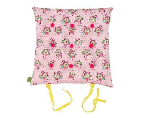 Pink Flamingos Chair Cushion