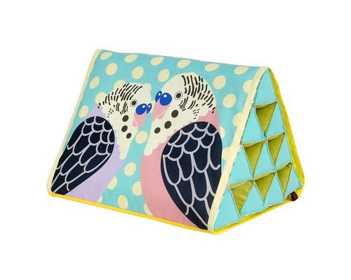 Singing with the Birds Large Triangle Cushion - Mint