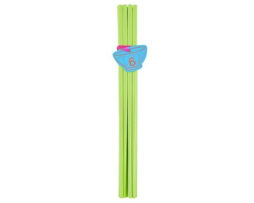 Pastel Colours 6 pairs Melamine Chopsticks - Green