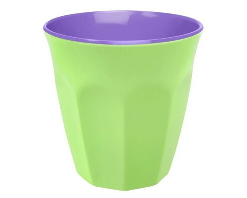 Pastel Colours Two Tone Medium Melamine Cup - Green