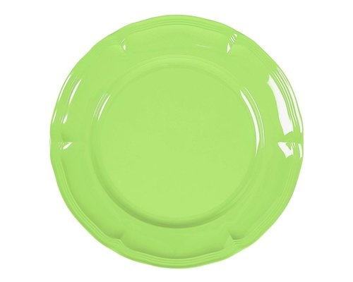 Pastel Colours Vintage Melamine Lunch Plate - Green