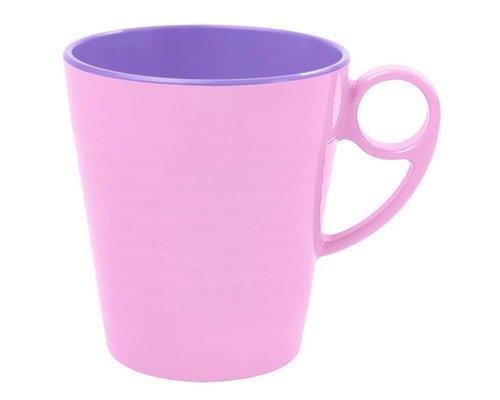 Pastel Colours Two Tone Melamine Mug - Pink