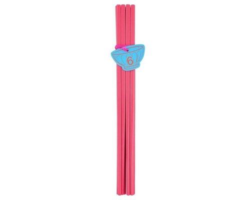 Pastel Colours 6 pairs Melamine Chopsticks - Coral