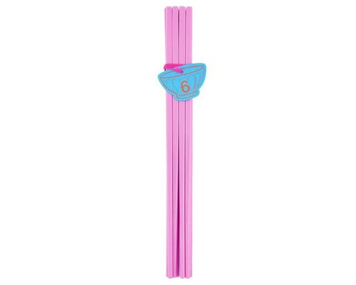 Pastel Colours 6 pairs Melamine Chopsticks - Pink
