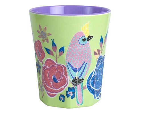 Singing with the Birds Large Melamine Cup - Green