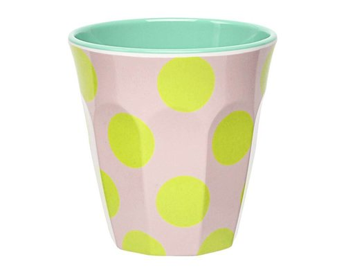 Happy Summer Medium Melamine Cup - Dots