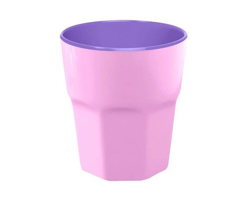 Pastel Colours Two Tone Large Melamine Cup - Pink