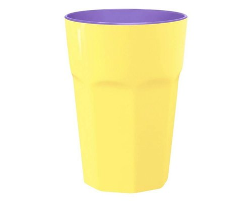Pastel Colours Two Tone Extra Large Melamine Cup - Yellow