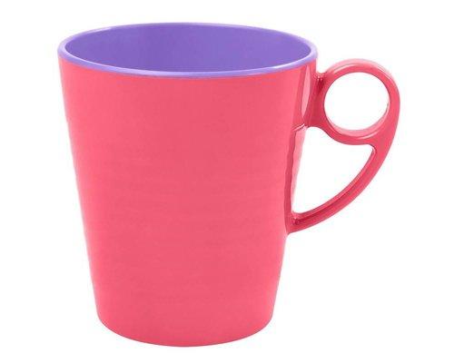 Pastel Colours Two Tone Melamine Mug - Coral