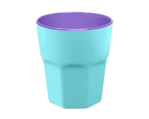 Pastel Colours Two Tone Large Melamine Cup - Blue